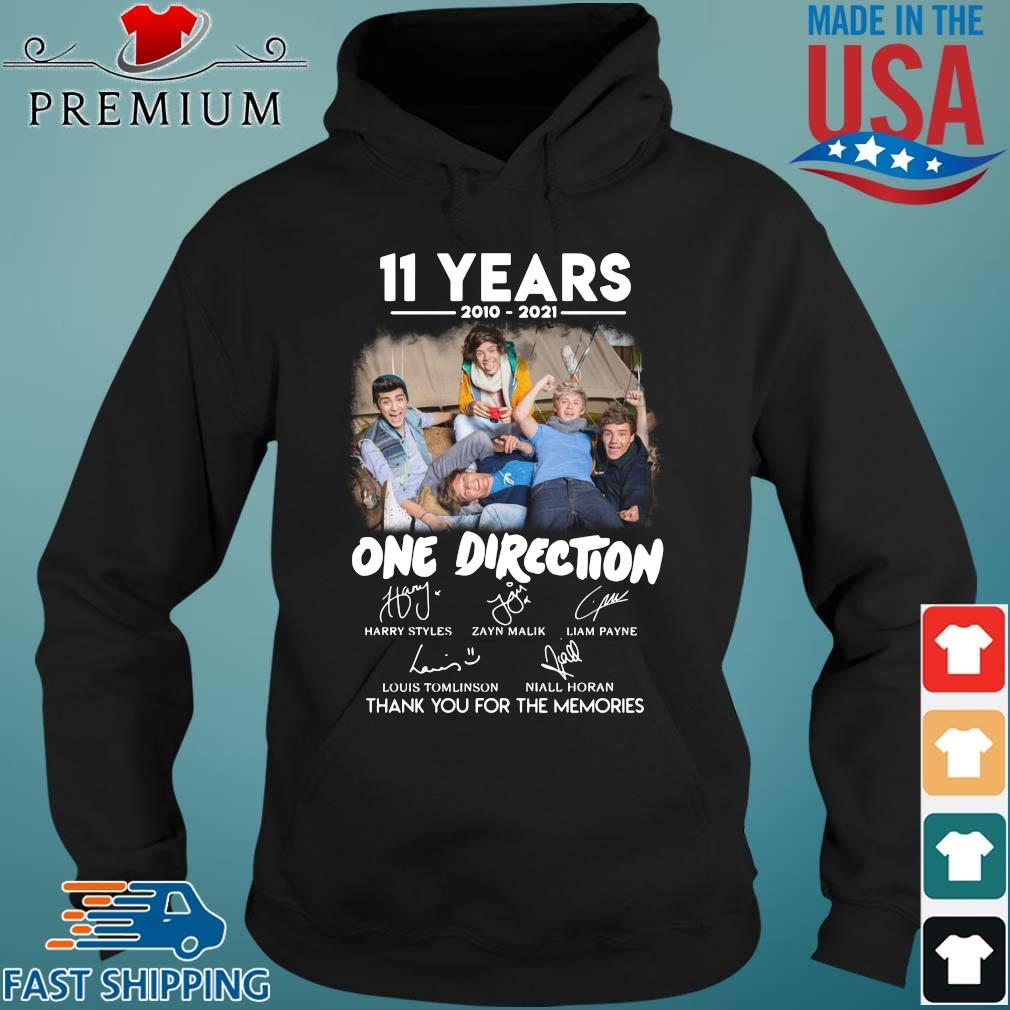 11 years 2010 2021 One Direction signatures thank you for the memories Hoodie den