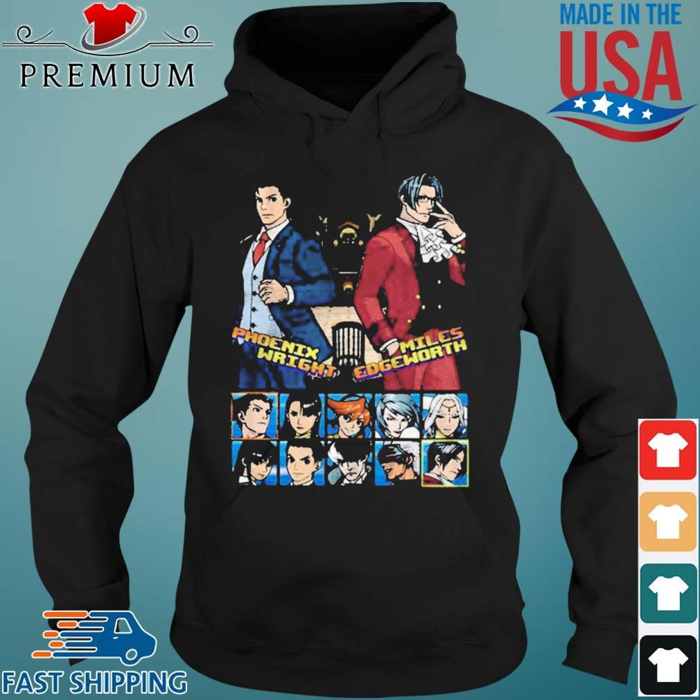 Ace attorney phoenix wright and miles edgeworth charcoal s Hoodie den