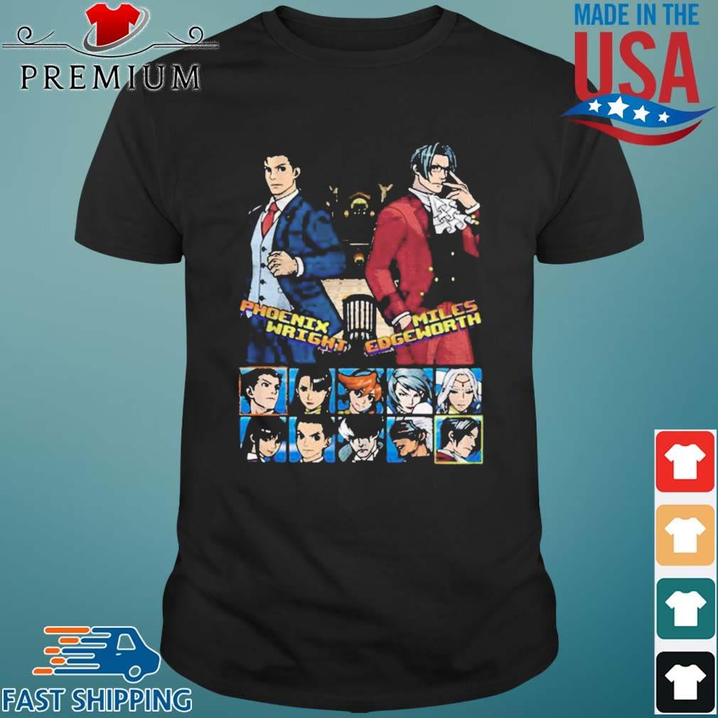 Ace attorney phoenix wright and miles edgeworth charcoal shirt