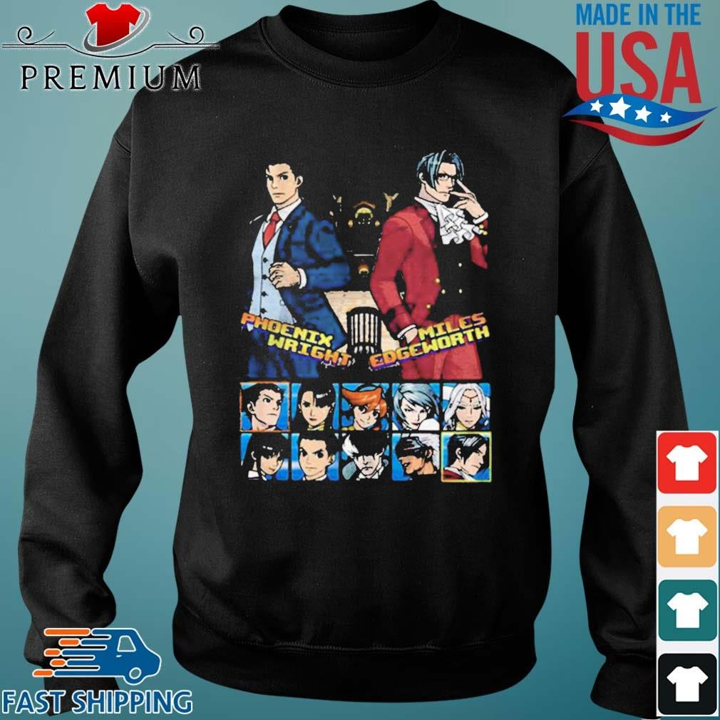Ace attorney phoenix wright and miles edgeworth charcoal s Sweater den