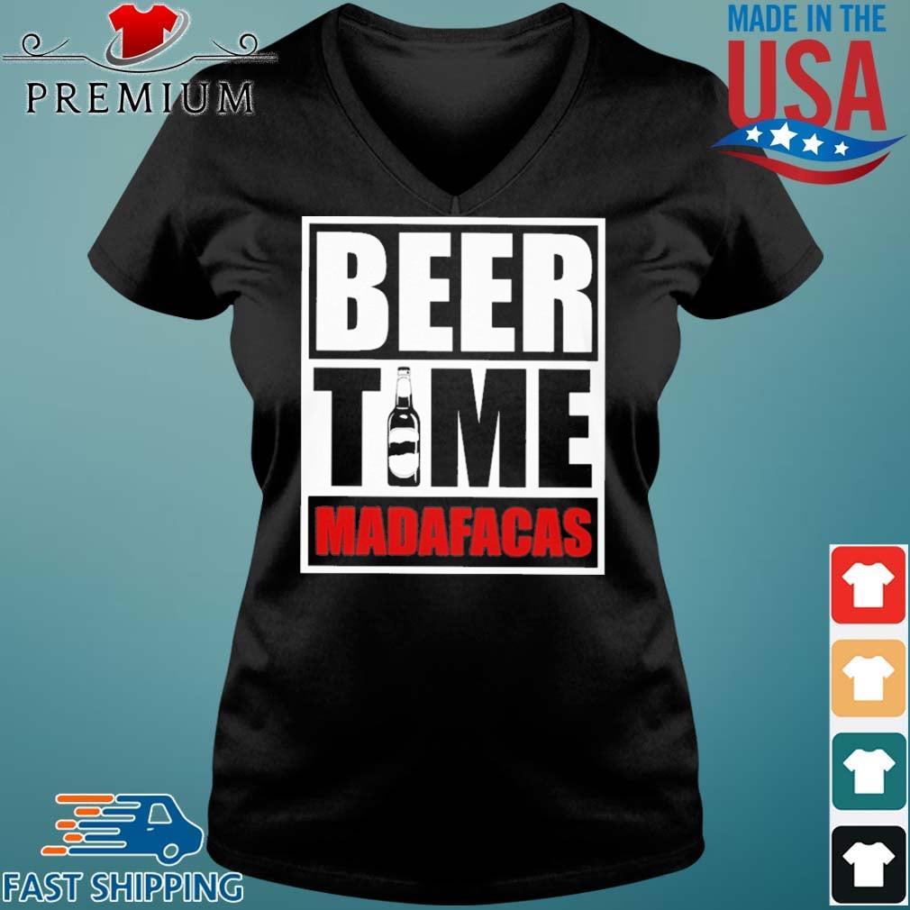 Beer Time Madafacas Shirt Vneck den