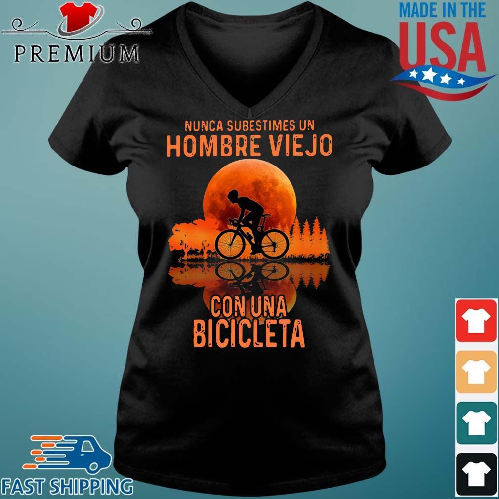 Nunca subestimes un hombre viejo con una bicicleta sunset Vneck den