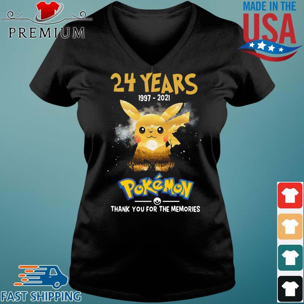 Official 24 years 1997-2021 Pokemon thank you for the memories Vneck den