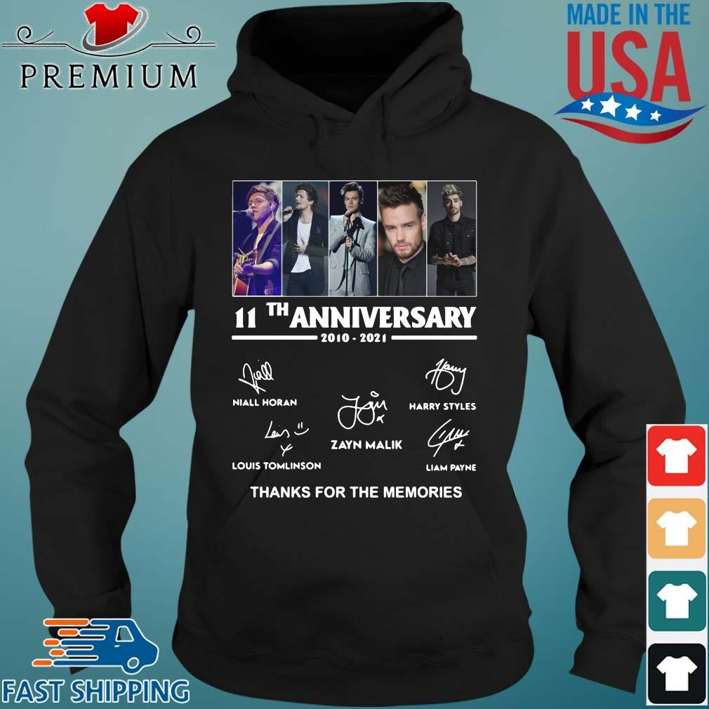 One Direction 11th anniversary 2010 2021 thanks for the memories signatures Hoodie den