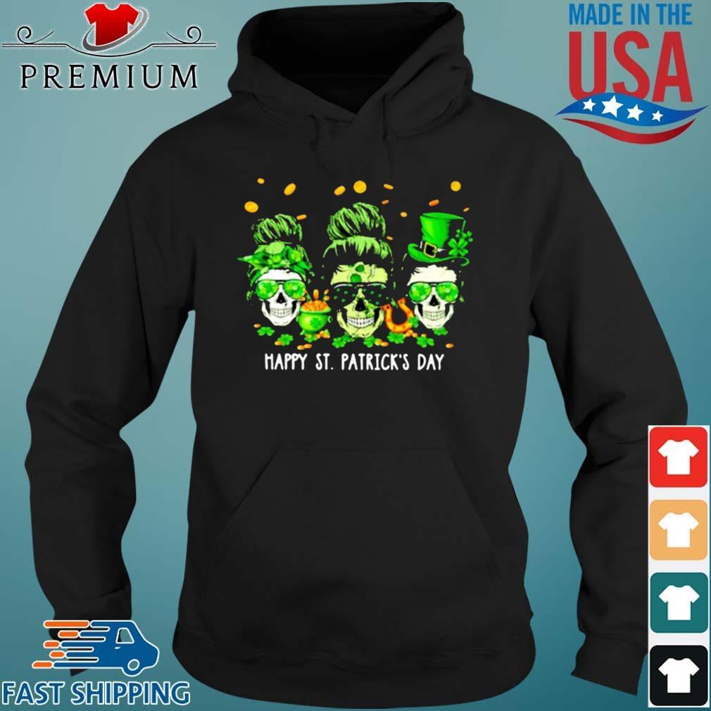 Skull Happy St Patrick's Day Shirt Hoodie den