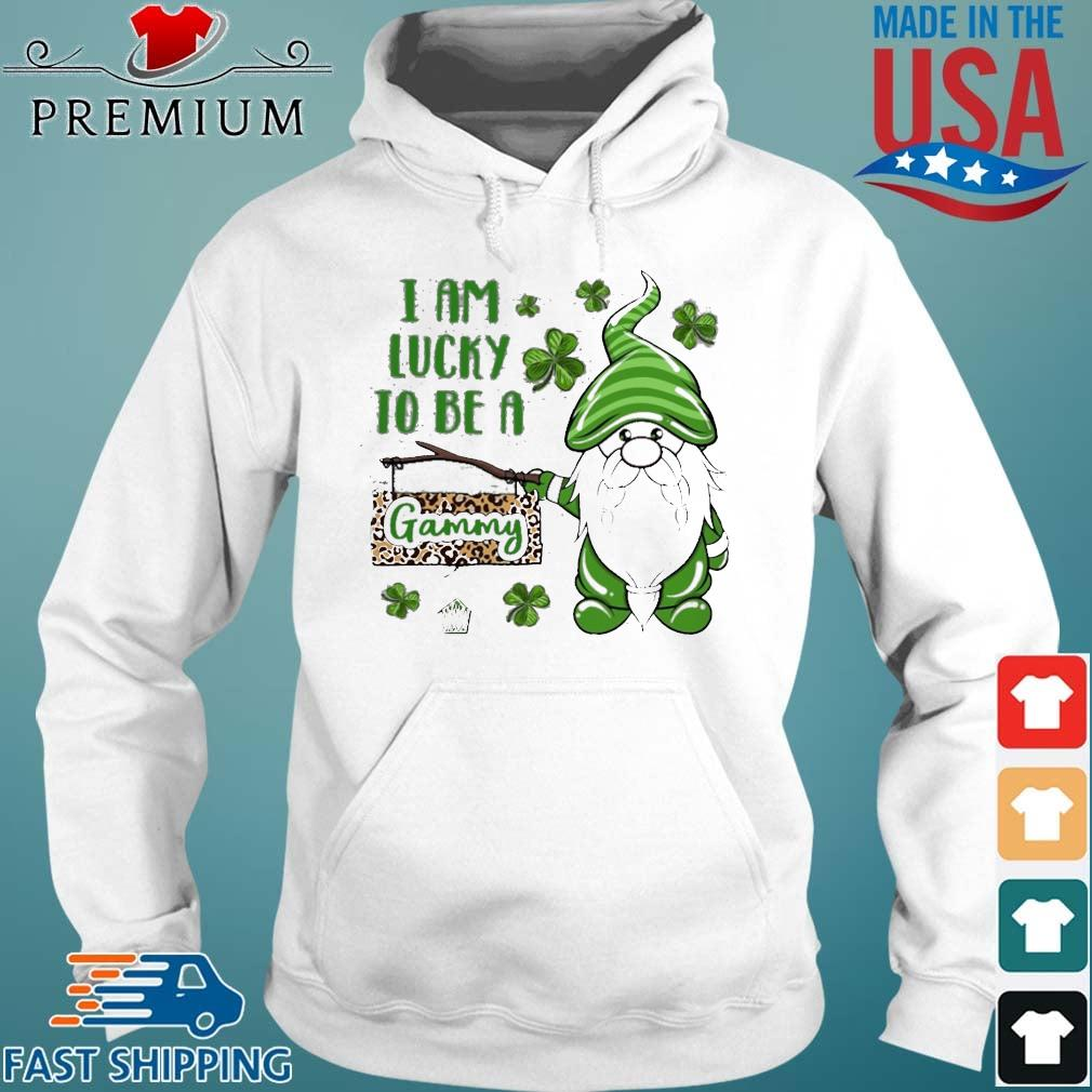 St Patrick Gnomes I Am Lucky To Be A Gammy Shirt Hoodie trang