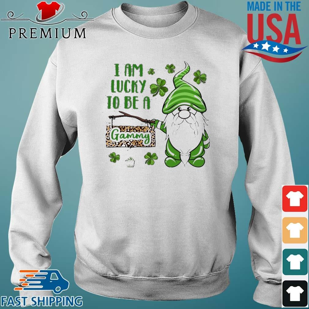 St Patrick Gnomes I Am Lucky To Be A Gammy Shirt Sweater trang