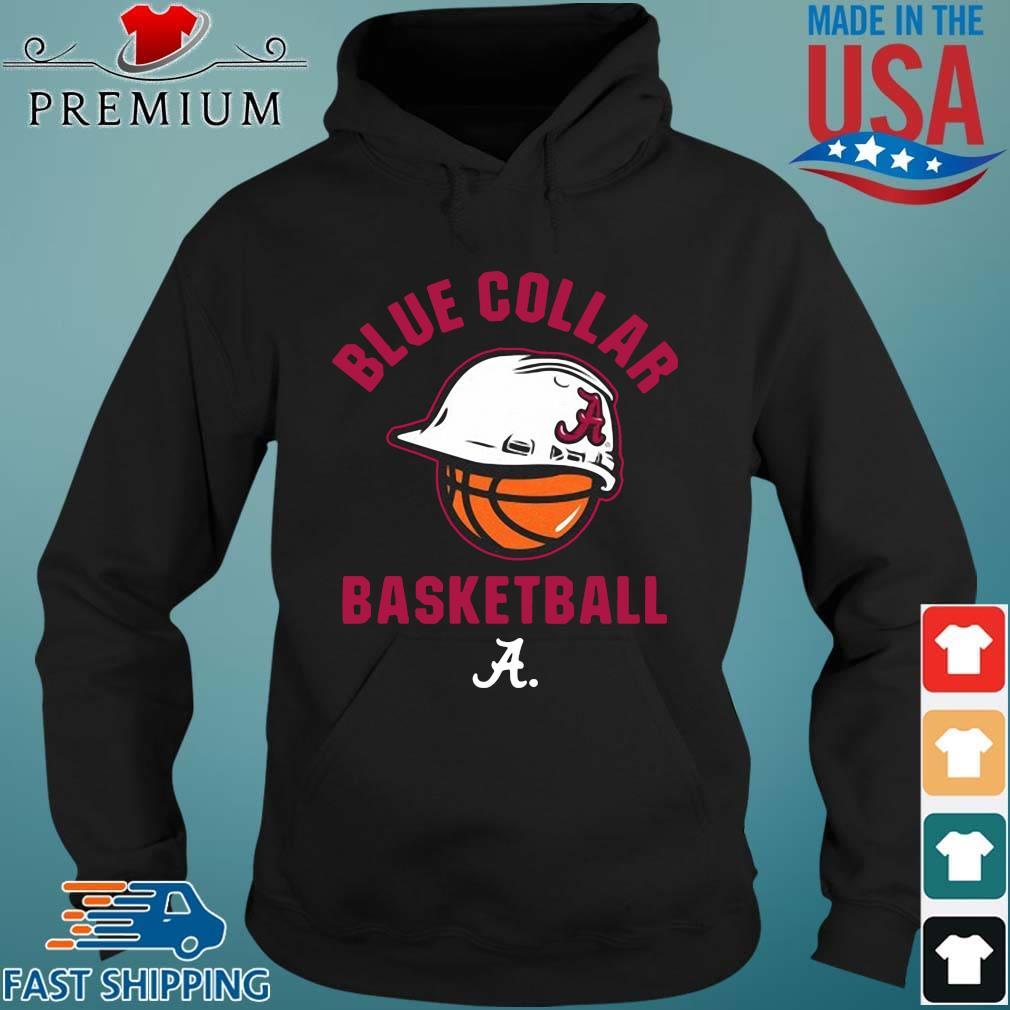 Alabama Crimson Tide blue collar basketball Hoodie den