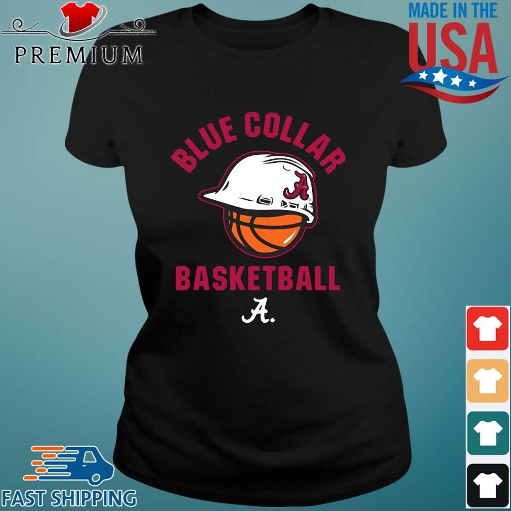 Alabama Crimson Tide blue collar basketball Ladies den