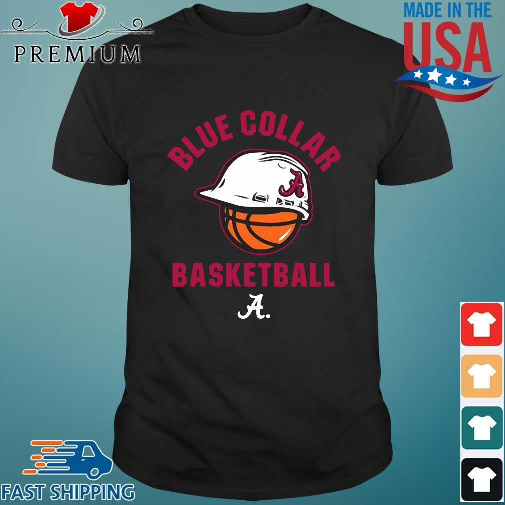 Alabama Crimson Tide blue collar basketball shirt