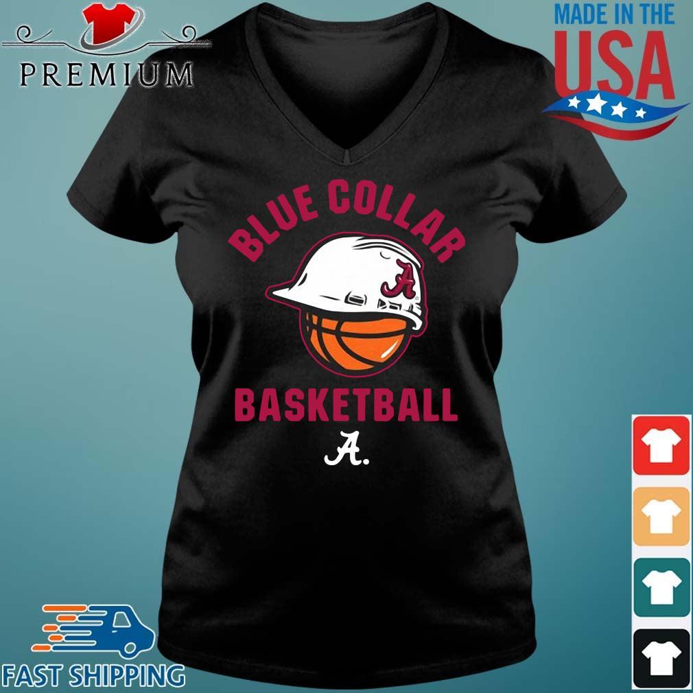 Alabama Crimson Tide blue collar basketball Vneck den