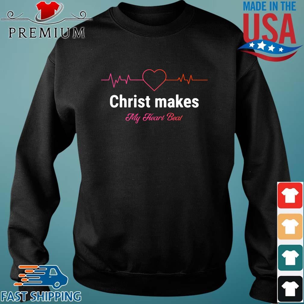 Christ makes my heart beal Sweater den
