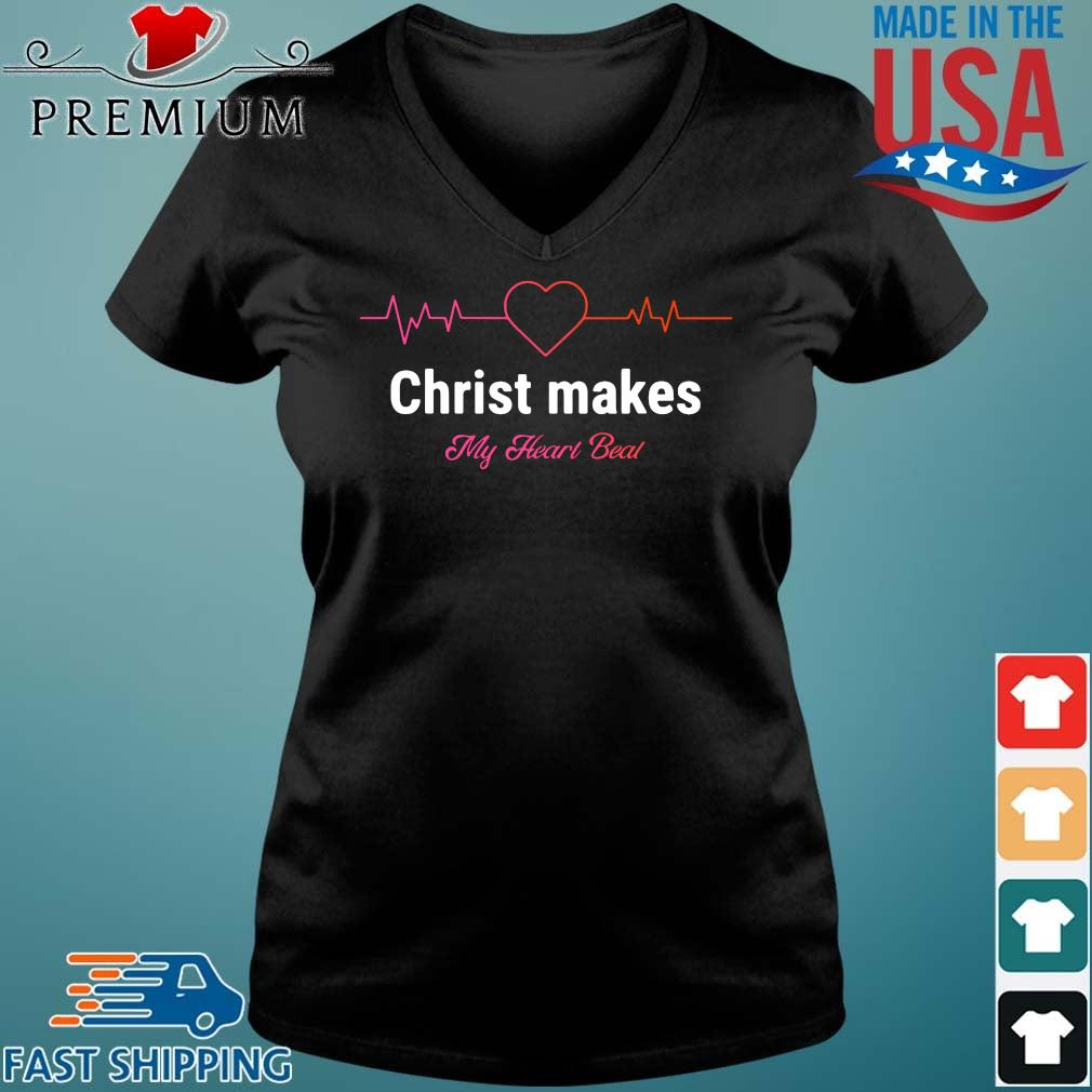 Christ makes my heart beal Vneck den