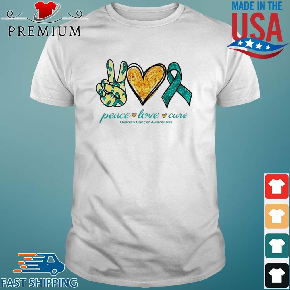 Peace Love Ovarian Cancer Awareness shirt