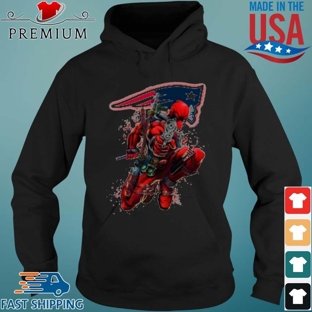 NFL Deadpool Marvel Comics Sports Football New England Patriots Shirt Hoodie den