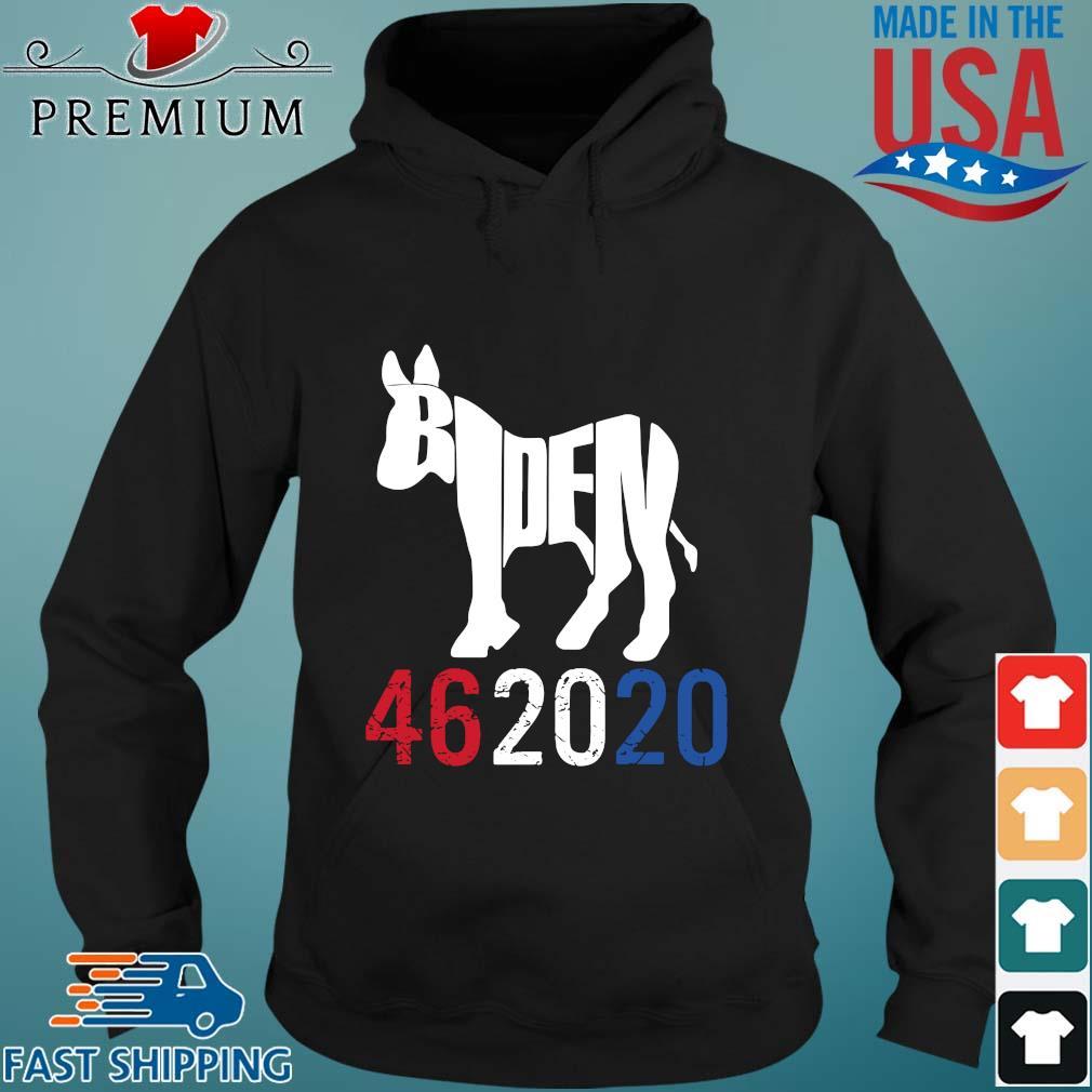 Donkey Joe Biden 46 20 20 red white blue s Hoodie den