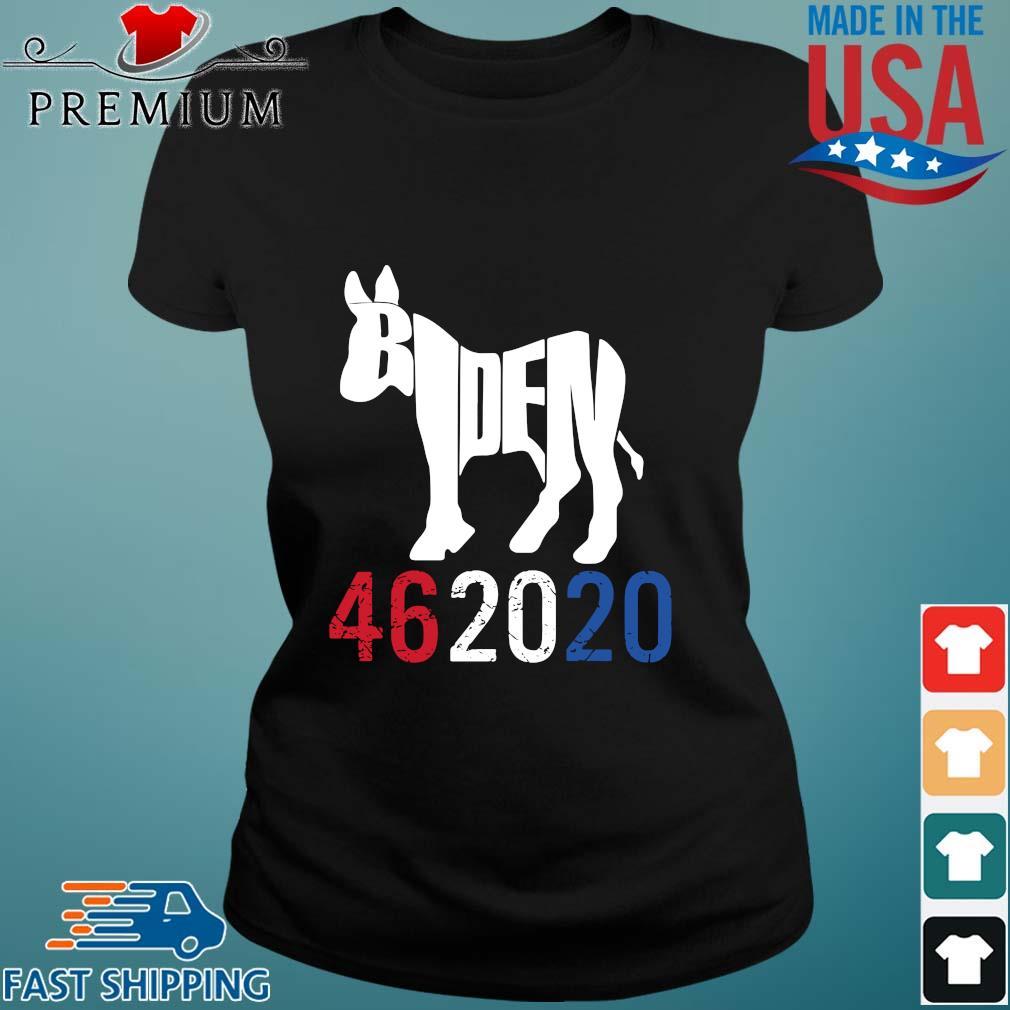 Donkey Joe Biden 46 20 20 red white blue s Ladies den