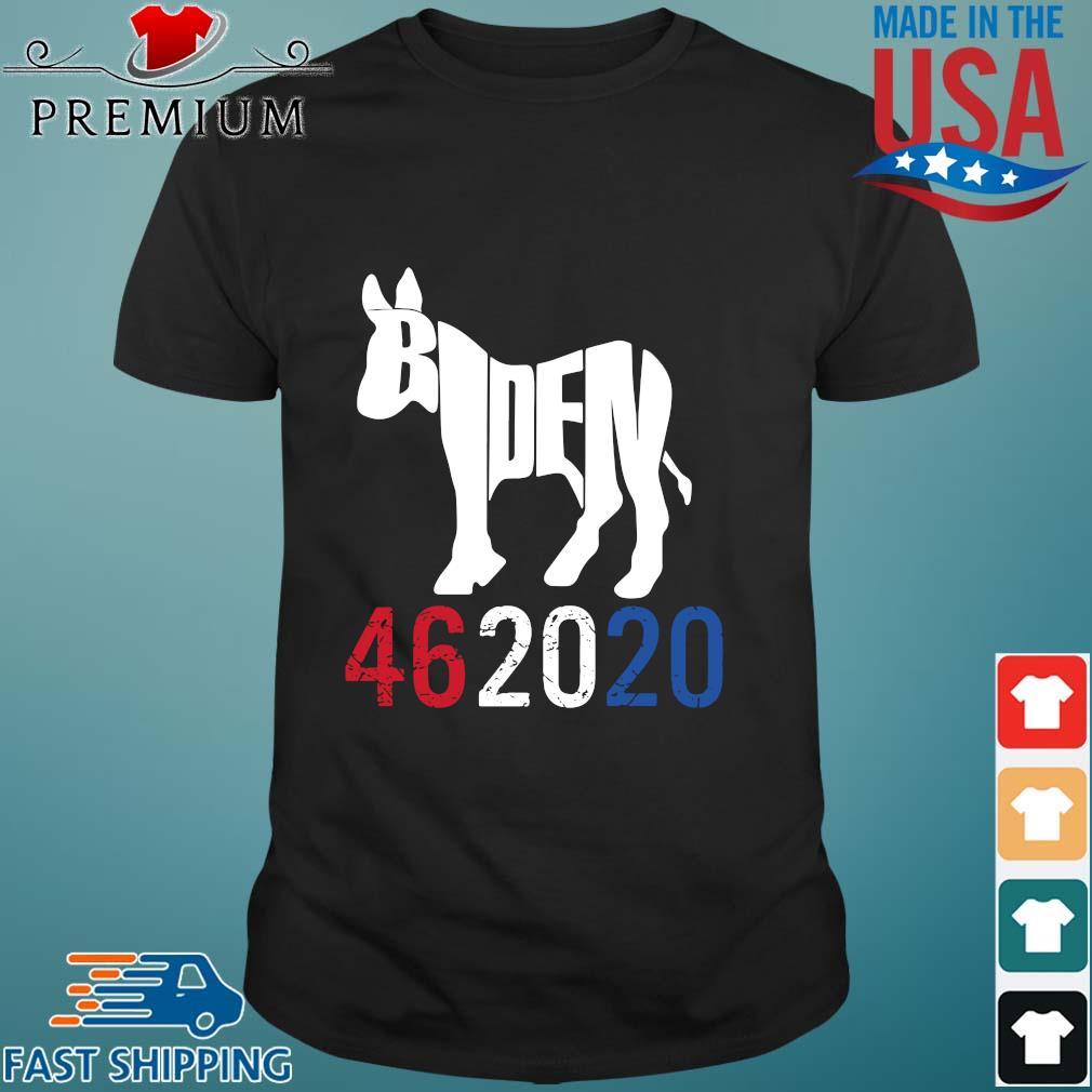 Donkey Joe Biden 46 20 20 red white blue shirt