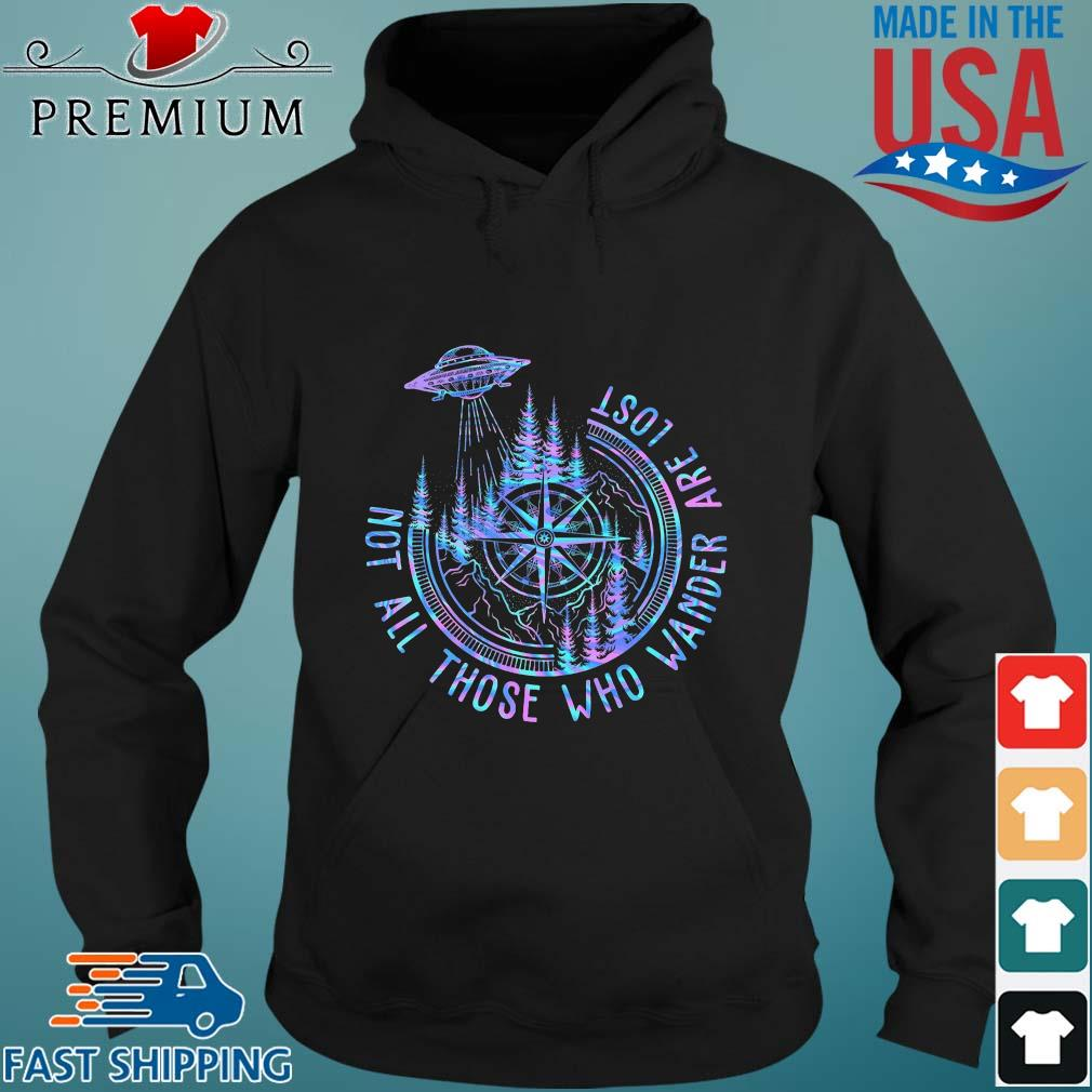 Ufo compass not all those who wander are lost s Hoodie den