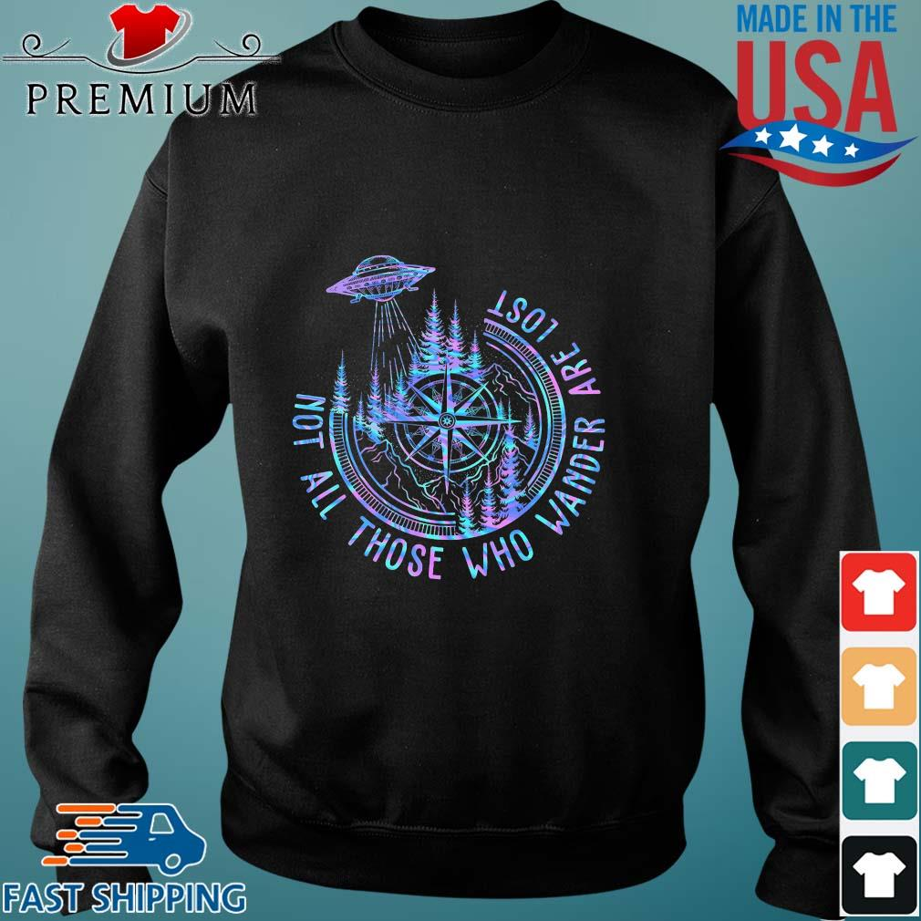 Ufo compass not all those who wander are lost s Sweater den