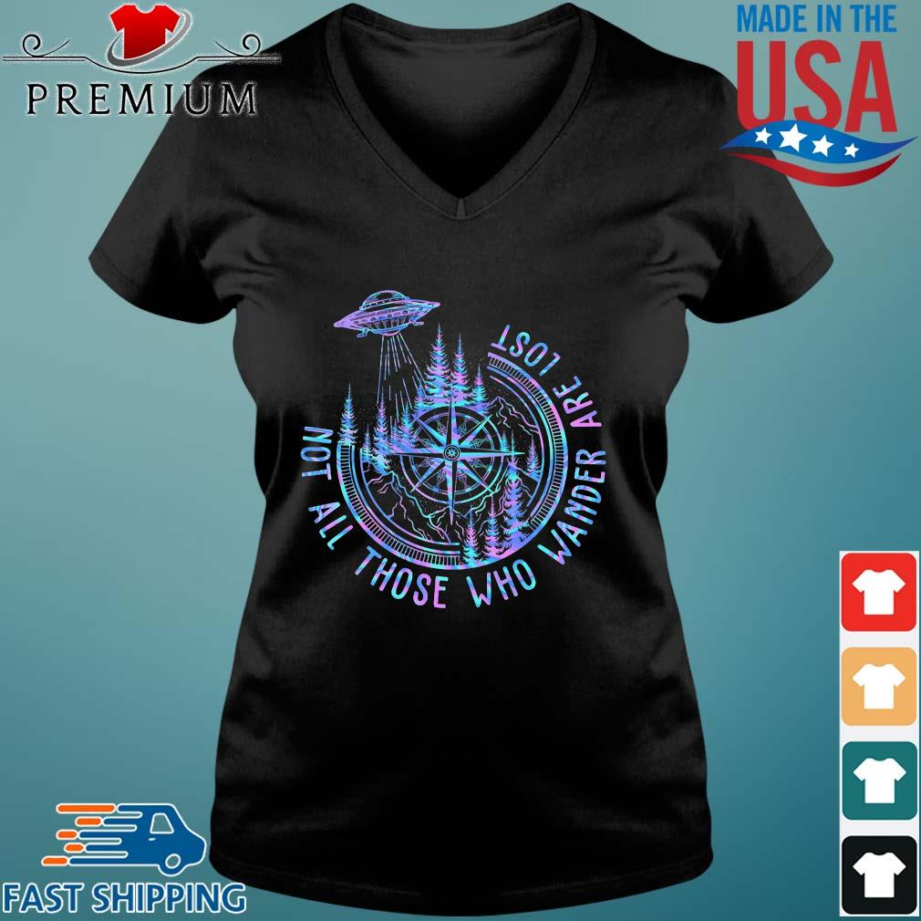Ufo compass not all those who wander are lost s Vneck den