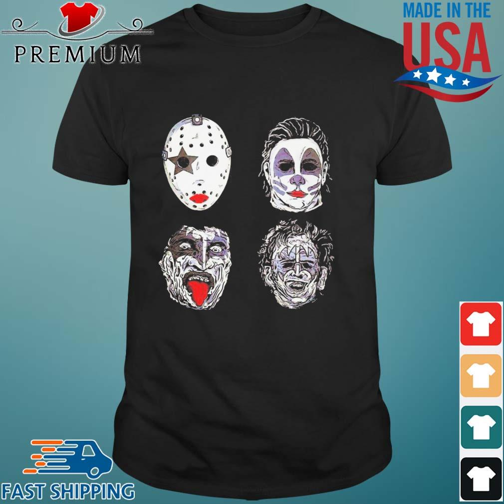 Jason Voorhees Michael Myers Captain Spaulding and Scary Freddy Krueger Halloween shirt