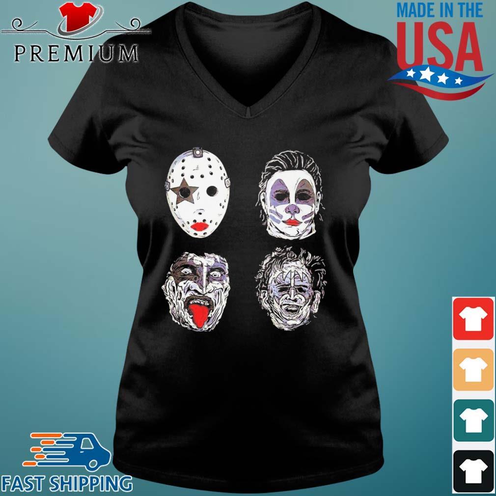 Jason Voorhees Michael Myers Captain Spaulding and Scary Freddy Krueger Halloween s Vneck den