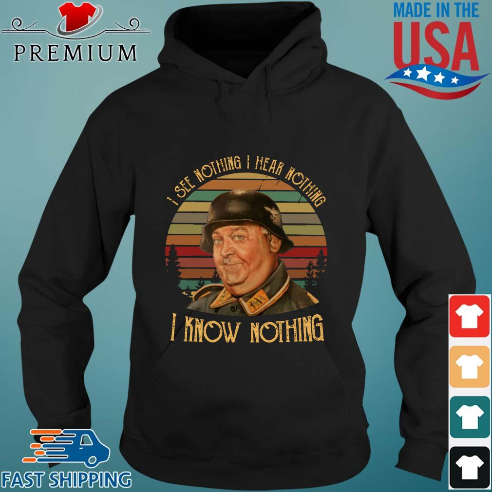John Banner I know nothing I see nothing I hear nothing vintage s Hoodie den