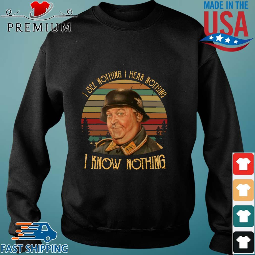 John Banner I know nothing I see nothing I hear nothing vintage s Sweater den