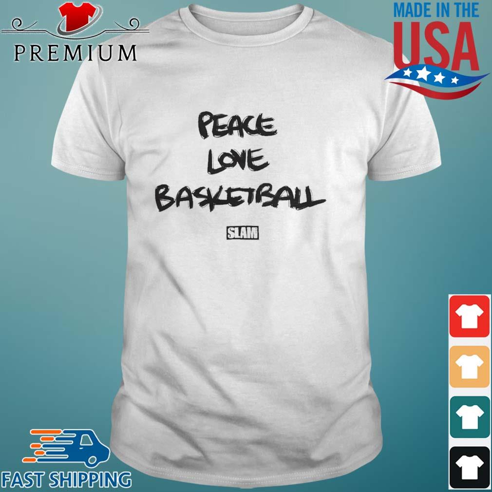 Slam Peace Love Basketball shirt