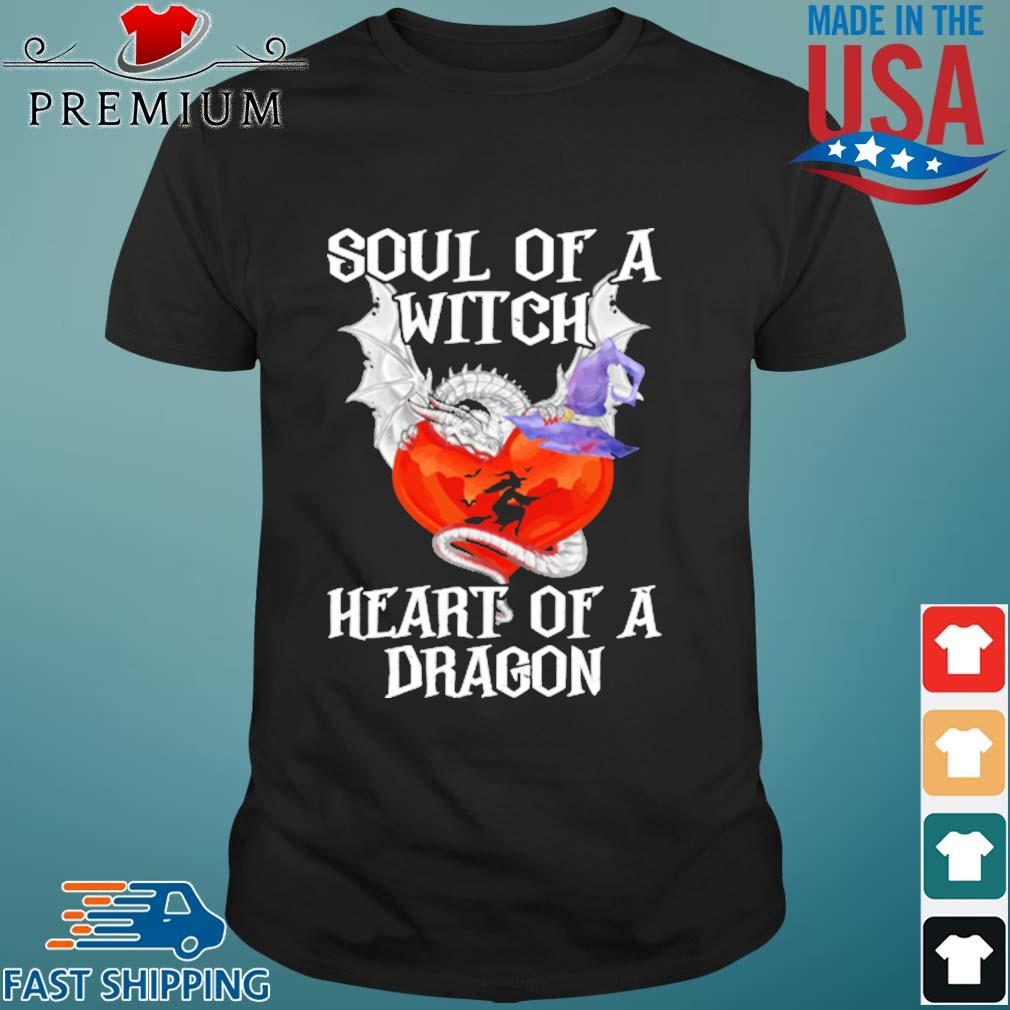 Soul of a Witch heart of a Dragon Halloween shirt