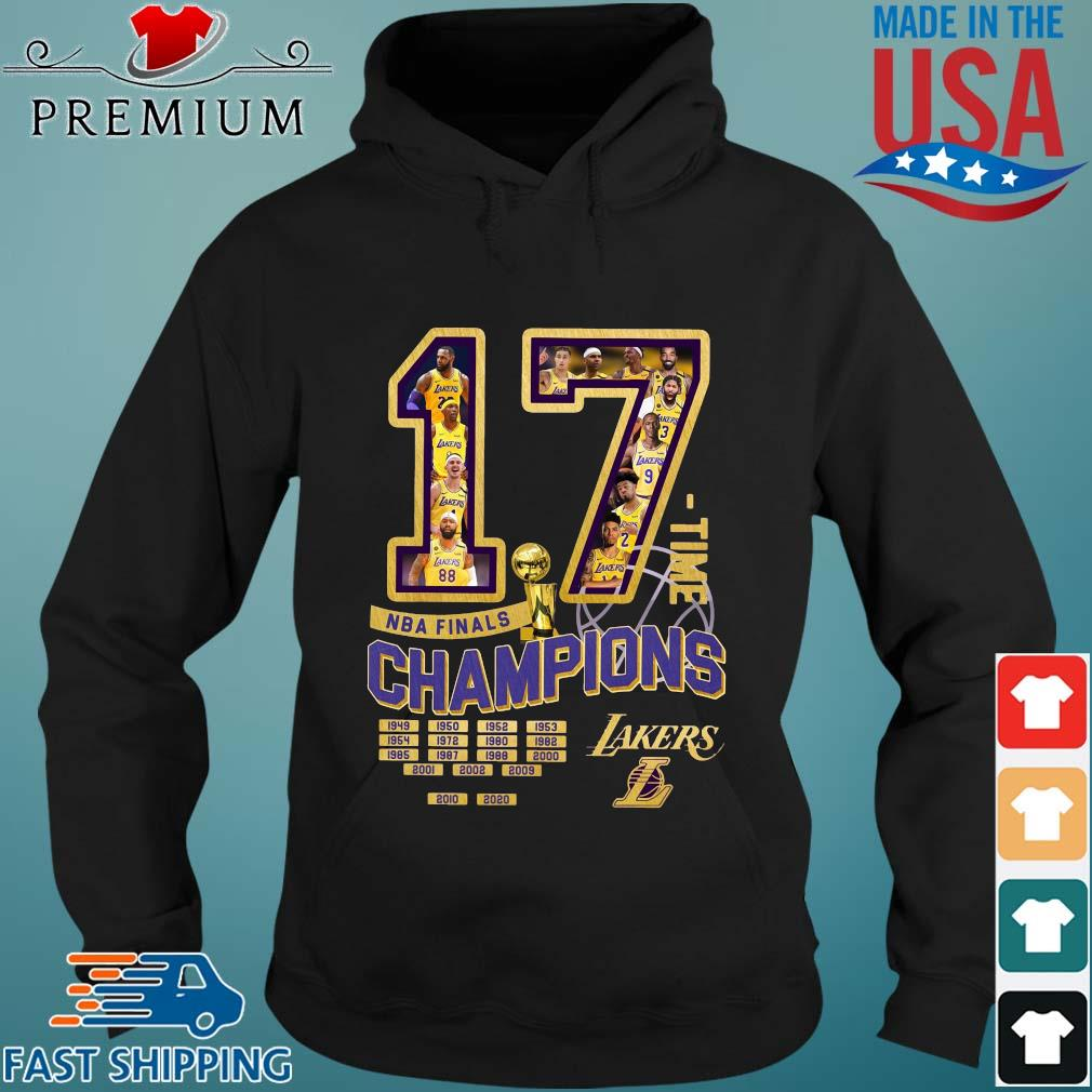 17 time NBA finals Champions 1949-2020 Los Angeles Lakers s Hoodie den