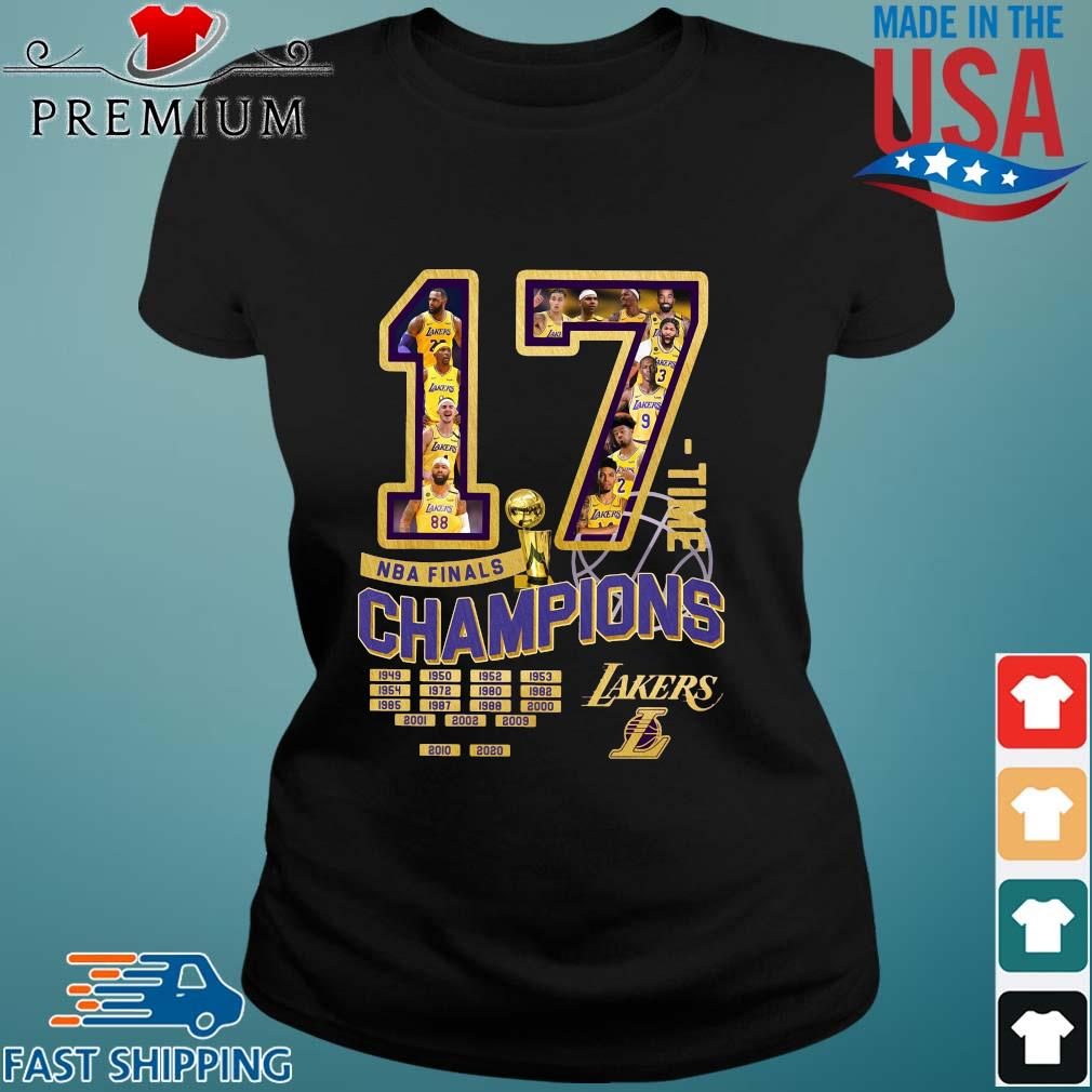 17 time NBA finals Champions 1949-2020 Los Angeles Lakers s Ladies den