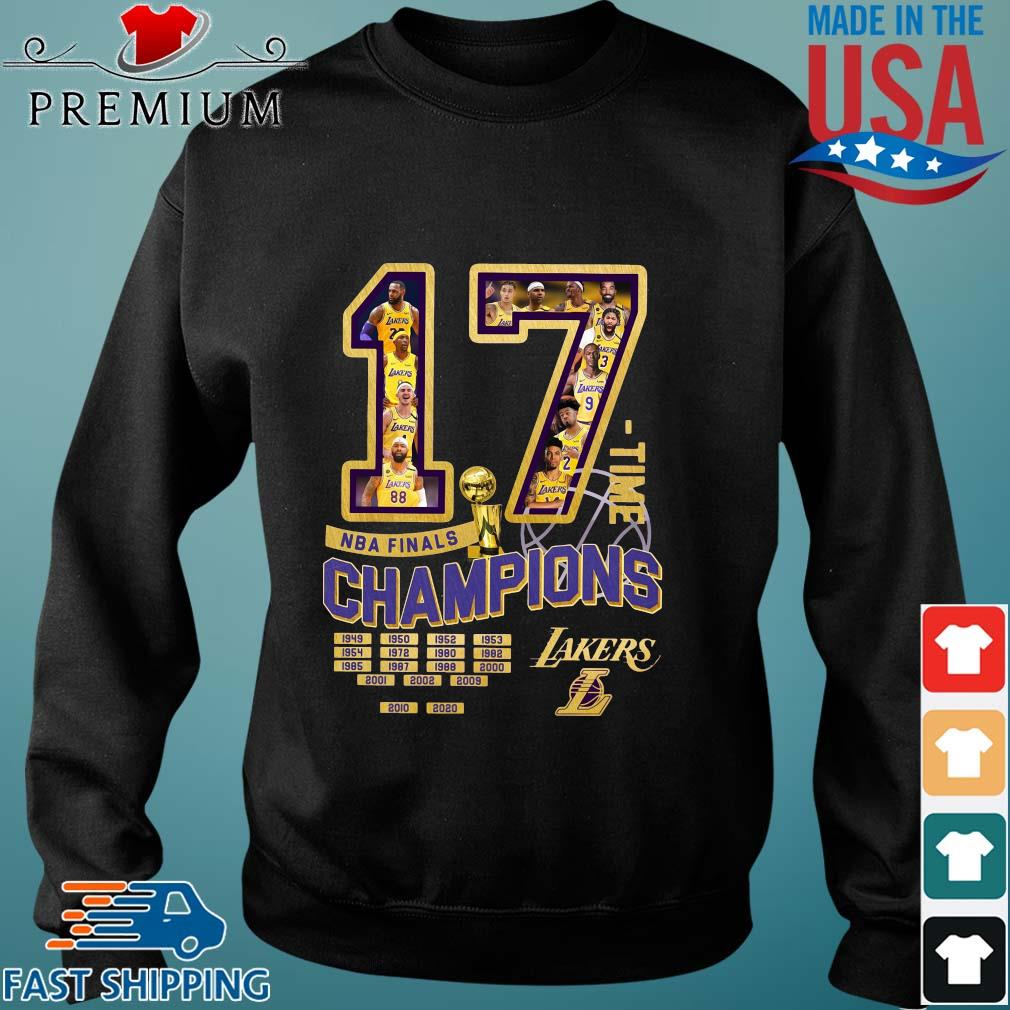 17 time NBA finals Champions 1949-2020 Los Angeles Lakers s Sweater den