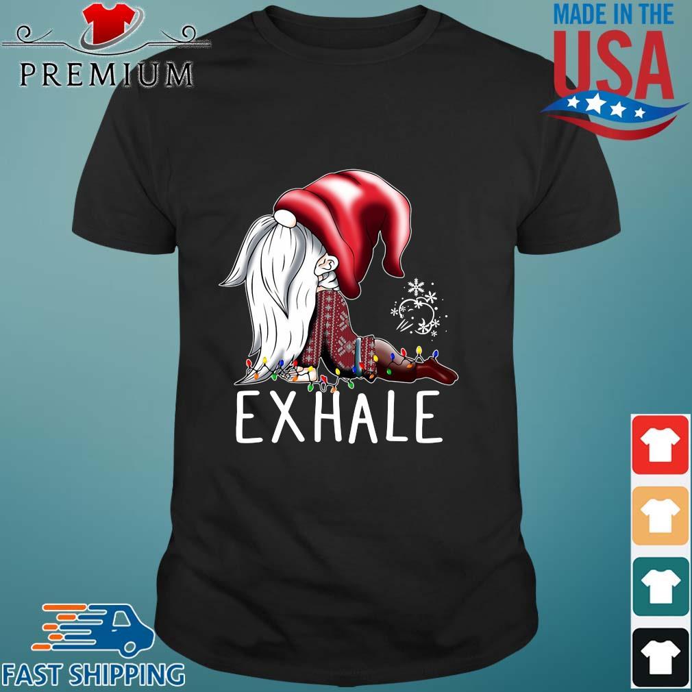Gnome Exhale Christmas shirt