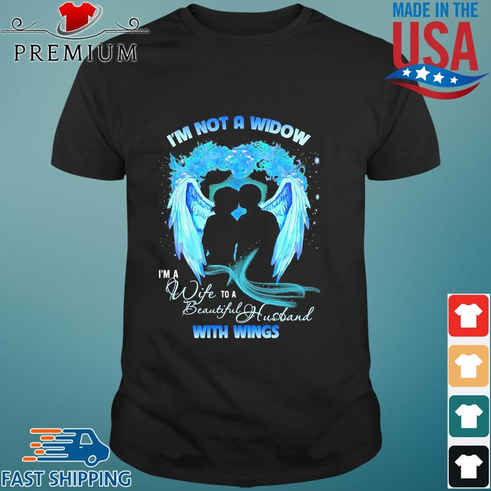 I'm not a window I'm wife to a beautiful husband with wings blue shirt